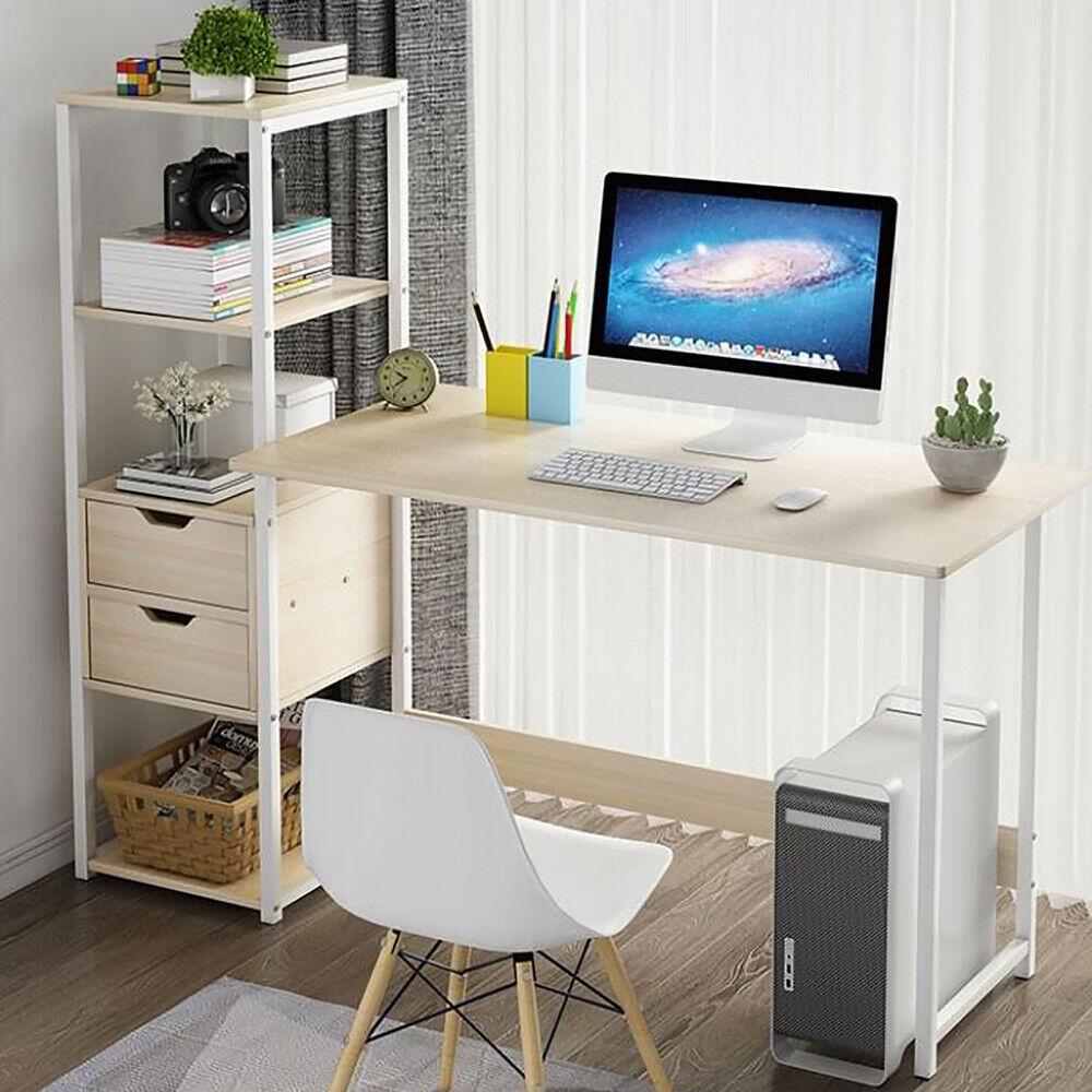 Schreibtisch Bürotisch Eckschreibtisch Computertisch mit Regal Arbeitstisch DHL