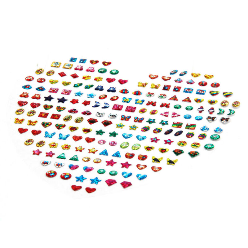 31 Pair Girls Stick on Earrings Sheet Party Filler Adhesive
