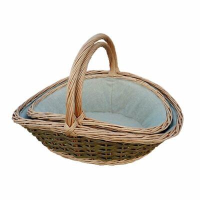 Red Hamper Set of 2 Gathering Garden Trug Basket