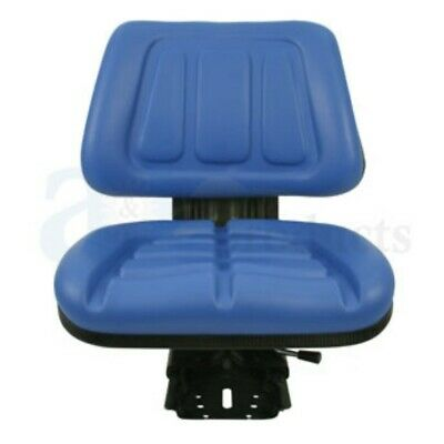 Blue Fullback Tractor Suspension Seat Fits Ford New Holland 600 601 800 801