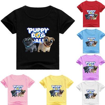 Boys Girls Puppy Dog Pals Kids T-shirt Short Sleeve Summer Casual Costumes