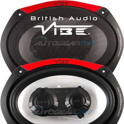"600w Vibe Audio Pulse 69-V4 6""x9"" 600w Car Van Tri-axial Oval Speakers Set PAIR"