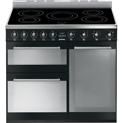 Graded Smeg SY93IBL 90cm Electric Induction Range Cooker (JUB-29879) RRP £2529