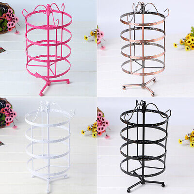 - US 144 Holes Rotating Earring Ring Display Jewelry Rack Holder Metal Stand JR15