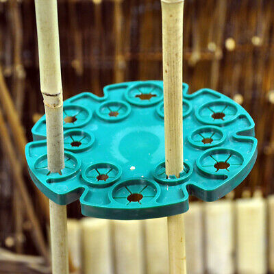Bamboo Cane Grip Support Bamboo Sticks Holder Sweet Pea,Bean,Cucumber Plant ()