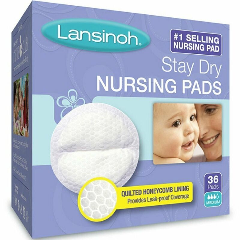Lansinoh Stay Dry Nursing Pads Medium 36 Each (Pack of 8)
