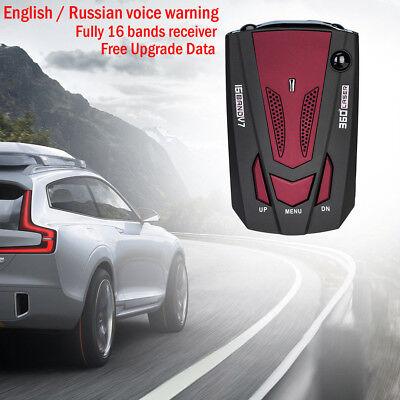 Red Car Radar Detector Speed Limited Detection Voice Alert Anti 360 Degre Ugrade