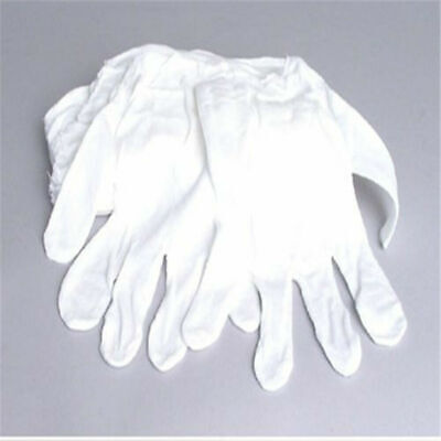 Usa 2-pair 100 Cotton White Soft Thin Gloves For Jewelry Gold Inspection
