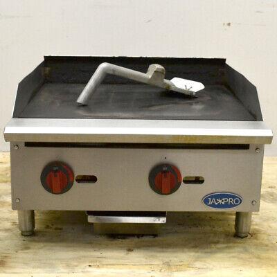 Jaxpro Commercial Gas Griddle 24 2-burner 60k-btu Countertop Propane Natural