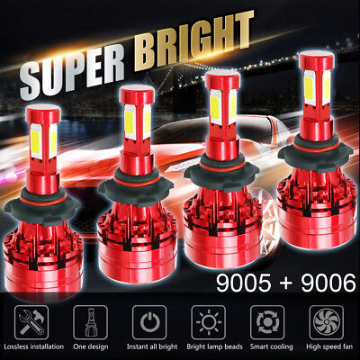 (Combo 9005 High 9006 Low Beam LED Headlight 6000K White Total 3000W 450000LM)