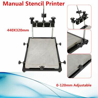 Manual Solder Paste Printer 120mm Adjustable Pcb Smt Stencil Printer 440x320mm