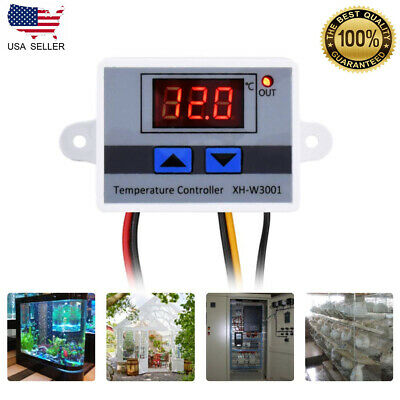 220v 10a Digital Led Temperature Controller Module Switch Xh-w3001 Waterproof