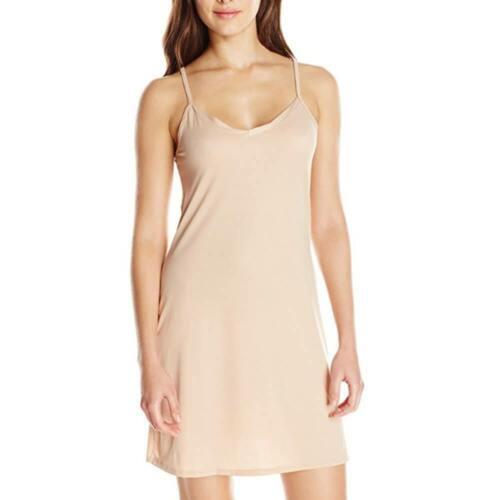 Damen Unterröcke Slips Lingerie Unterkleid Nachthemd Strappy Trägerkleid EU36-44