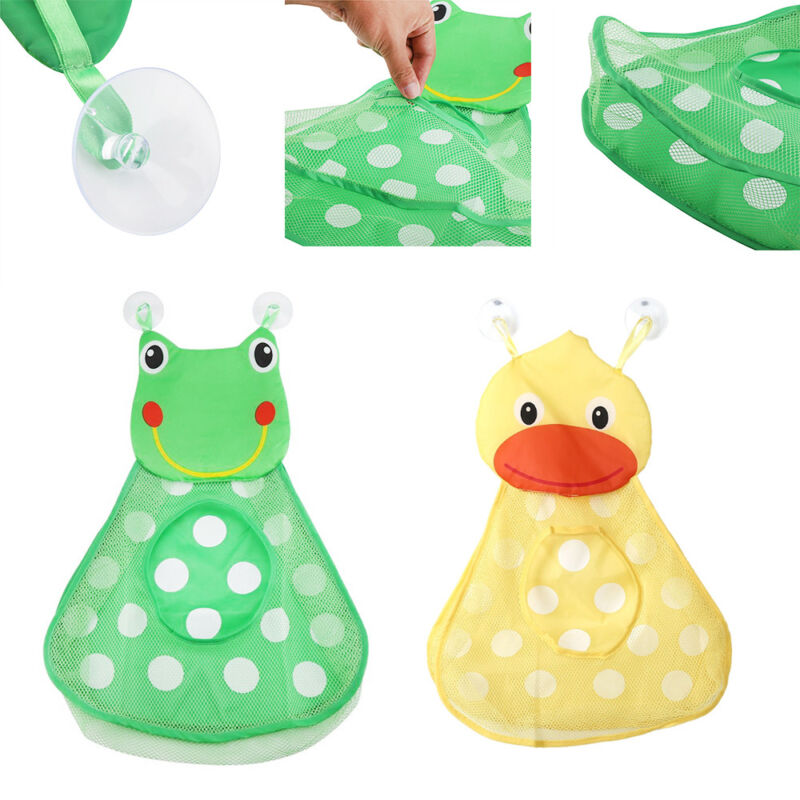 Cups Bath Toys Mesh Bag Baby Shower Storage Bathroom Organizer Net Holder