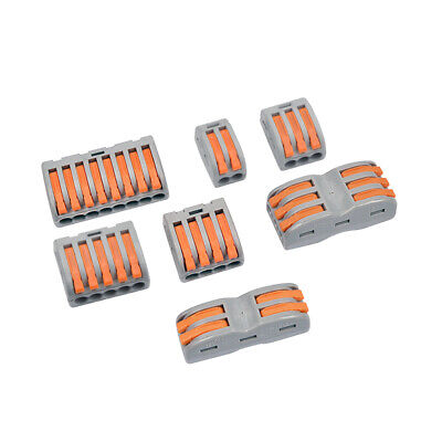 10x 358 Way Reusable Spring Lever Terminal Block Electric Cable Wire Connector