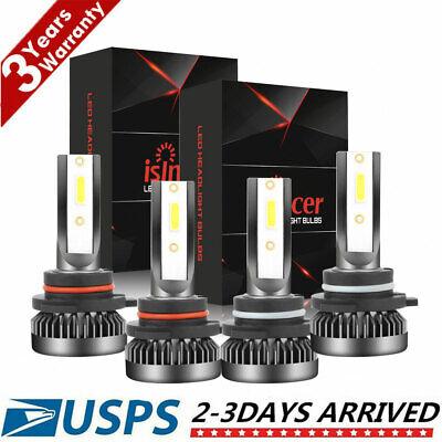 9005+9006 3000W 450000LM Combo LED Headlight High/Low Beam 6000K 4 Bulbs Kit US