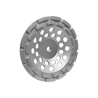 7 Double Row Diamond Grinding Cup Wheel 58-11 Wetdry For Concrete Masonry