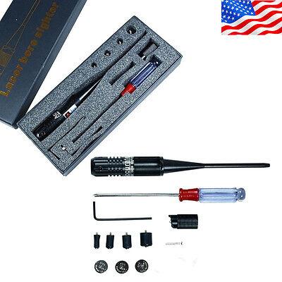 3 batteries NEW Red Laser BoreSighter Bore Sight kit for .22 to .50 Caliber SER