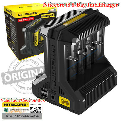 NITECORE i8 Universal Vape Mods 8 Bay 18650 Smart Rechargeable Battery Charger