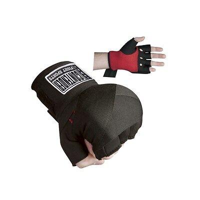 New Contender Fight Gel Boxing MMA Quick Handwraps Hand Wrap Wraps - Black 135'