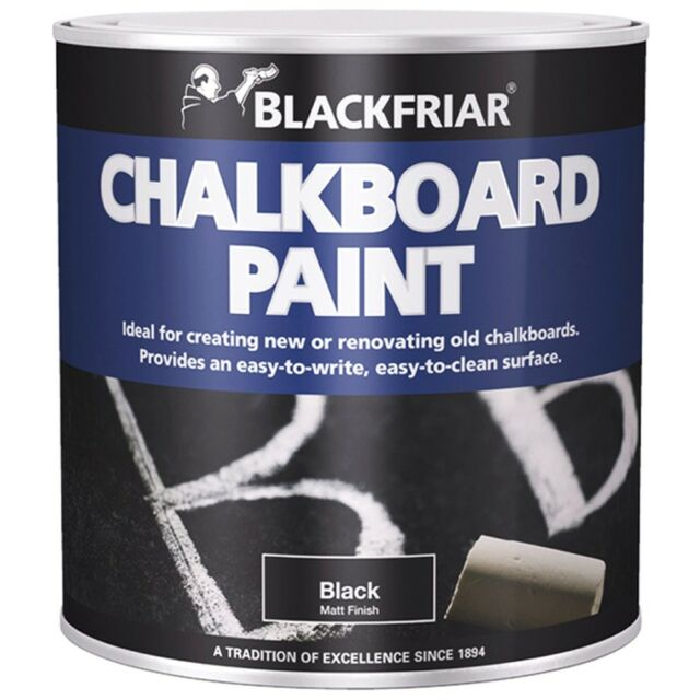 Blackfriar Chalkboard Blackboard Paint Matt Black - 500ml