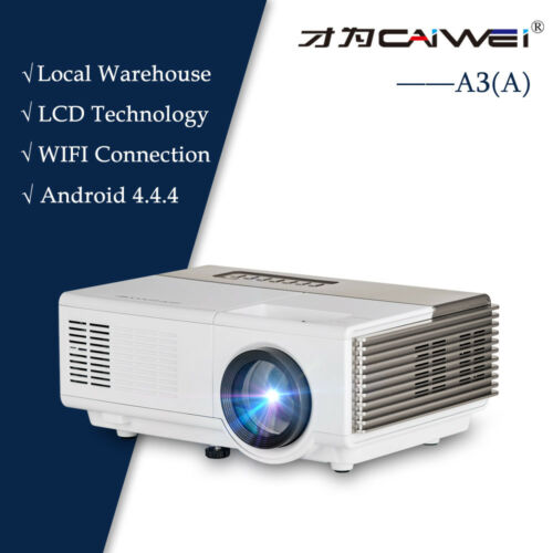 HD Smart Android LED Projector Video Wifi Bluetooth Home Theater 1080p Airplay