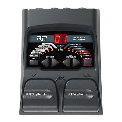 Digitech RP-55 Guitar Amp Modeling Multi Effects Processor Drum Machine Pedal
