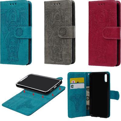 Für iPhone X schlagfest Wallet Case Premium PU leder flip Handyhülle 4 Farben