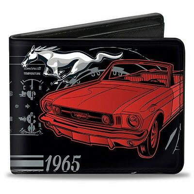 Leather style PU wallet 1965 Ford Mustang billfold - great christmas gift!