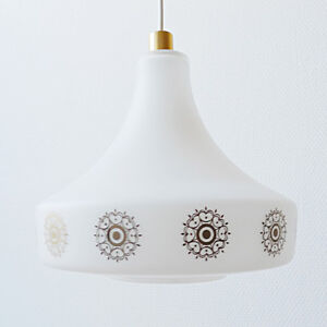 Lampe lustre boule en verre vintage ann es 70 design 1970 pop suspension ebay - Lampe suspension vintage ...