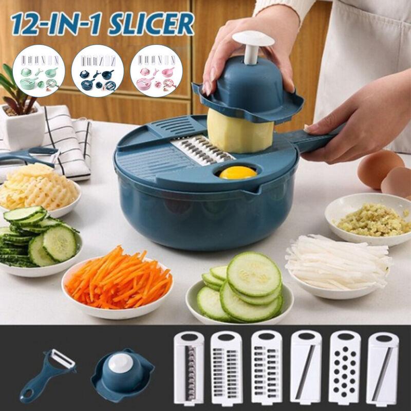12 In 1 Food Vegetable Chopper Onion Fruit Dicer Cutter Vegg
