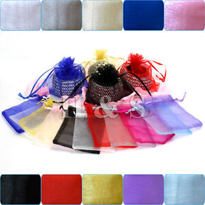 100-x-Organza-Wedding-Party-Jewellery-Gift-Favour-Bag-Pouch-Box-Large-Size-7x9cm