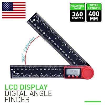 0-360 8-inch Lcd Digital Angel Finder Ruler Gauge Protractor Measure Tools Us
