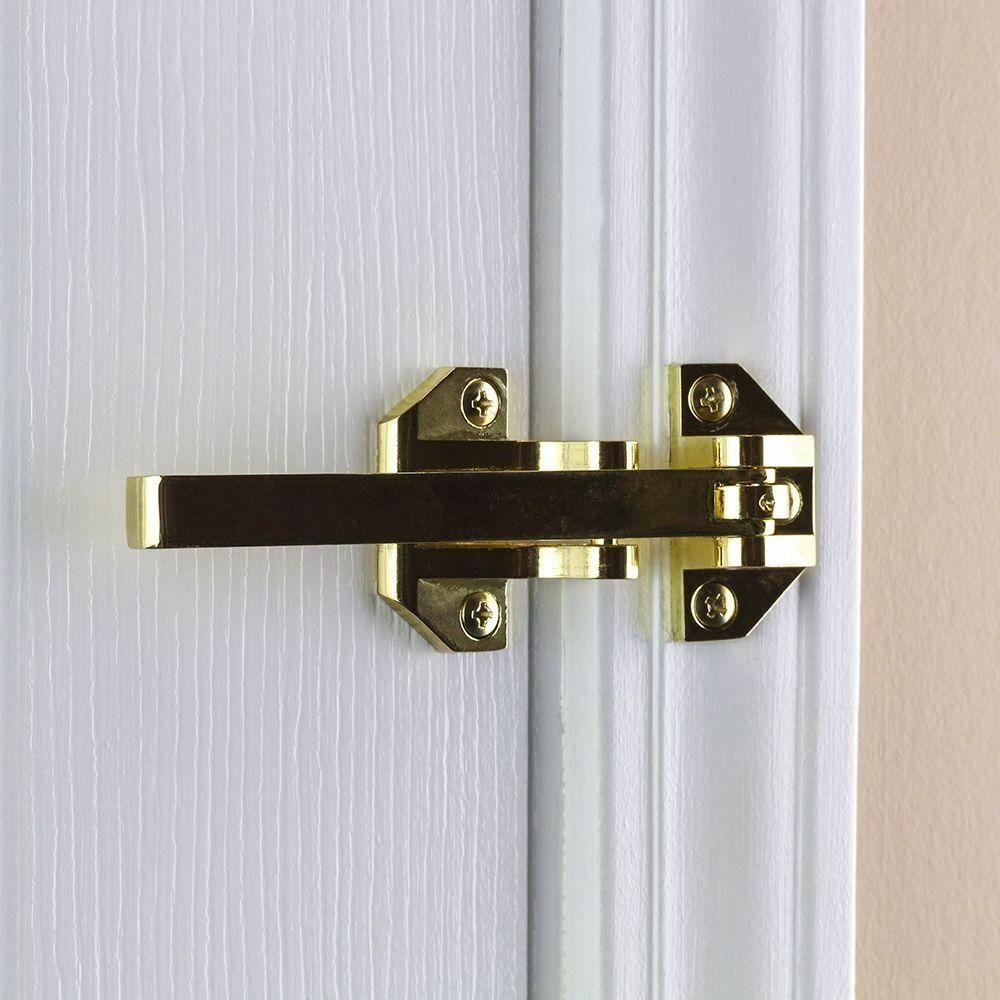 Defiant Bright Brass Heavy-Duty Door Guard Lock