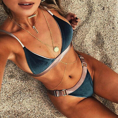 1 Set Sexy Women Bikini Set Swimwear Push-Up Padded Bra Swimsuit Beachwear Bra