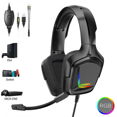 PS4 Gaming Headset ONIKUMA K20 Xbox one Headphone with RGB Surround Sound Mic