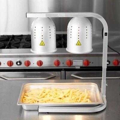 Aluminum Heat Lamp Food Warmer 2 Bulb Free Standing Nib