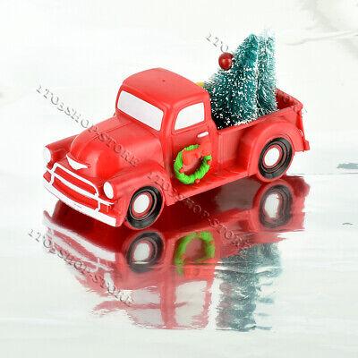 Christmas Vintage Red Trucks Old Car Model Ornament Kids Xmas Gift Decor ()