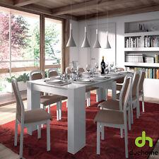 Mesa de comedor consola extensible mesa cocina mesa escritorio Blanco Brillo