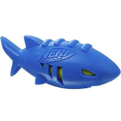 Nerf Super Soaker Shark Football Squeaker Floating Dog Toy