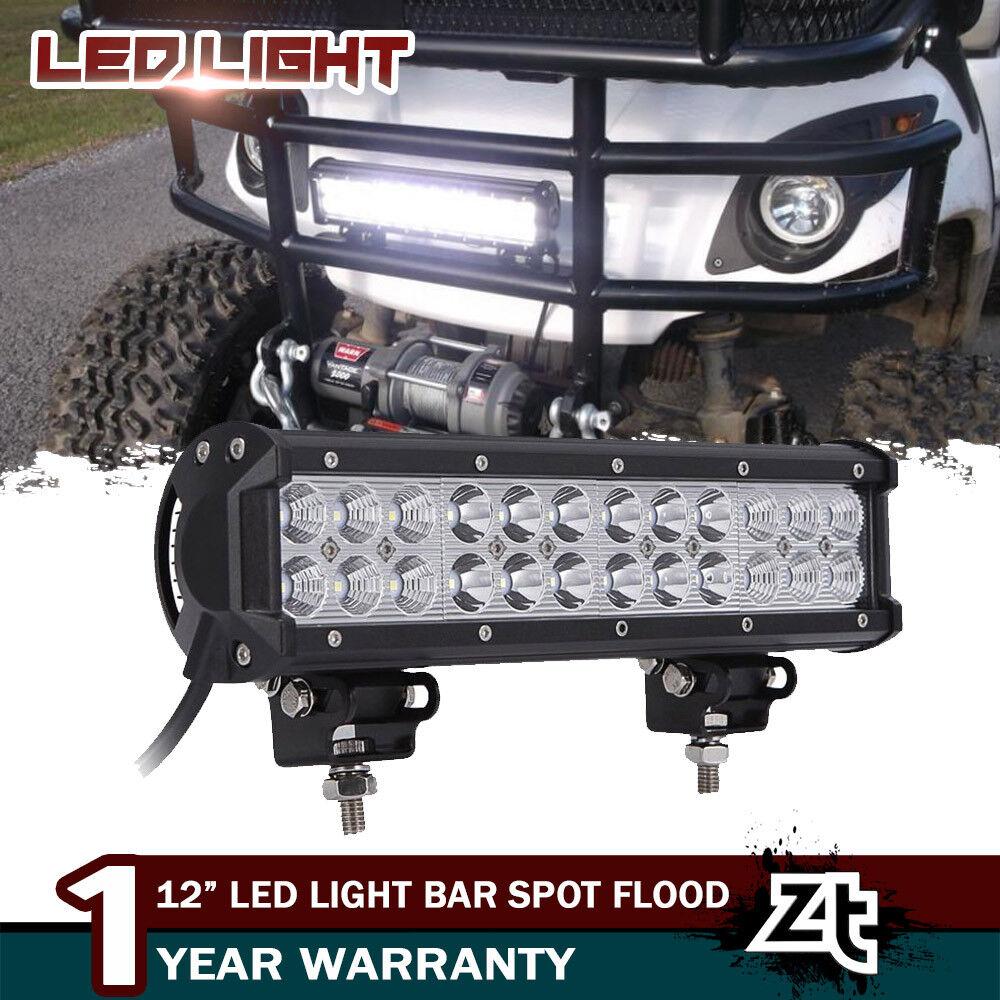 Details About 12 72w Led Work Light Bar Combo Headlight Fit Ezgo Txt Golf Cart Front Bumper