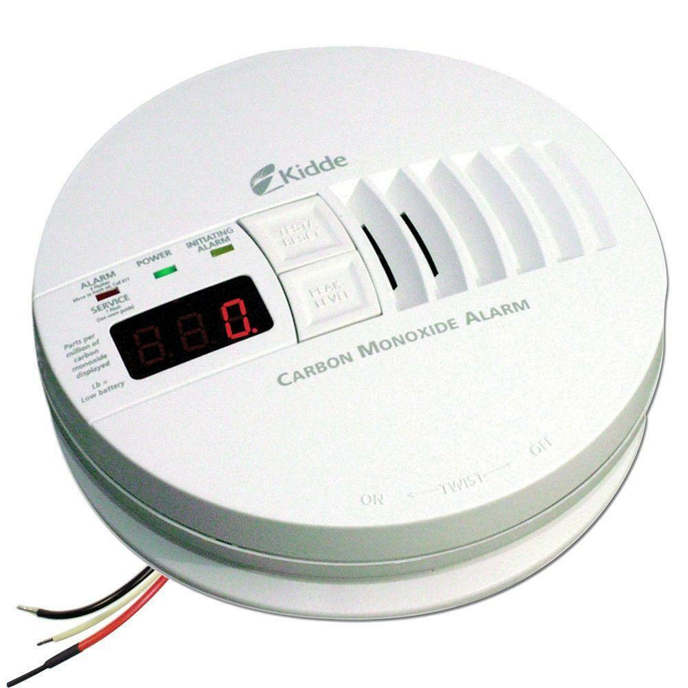 Kidde Carbon Monoxide Alarm, 120V Hardwired Interconnectable