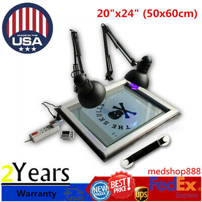 Exposure Unit Screen Printing Plate Making Silk Screening Diy 20 X 24 Usa