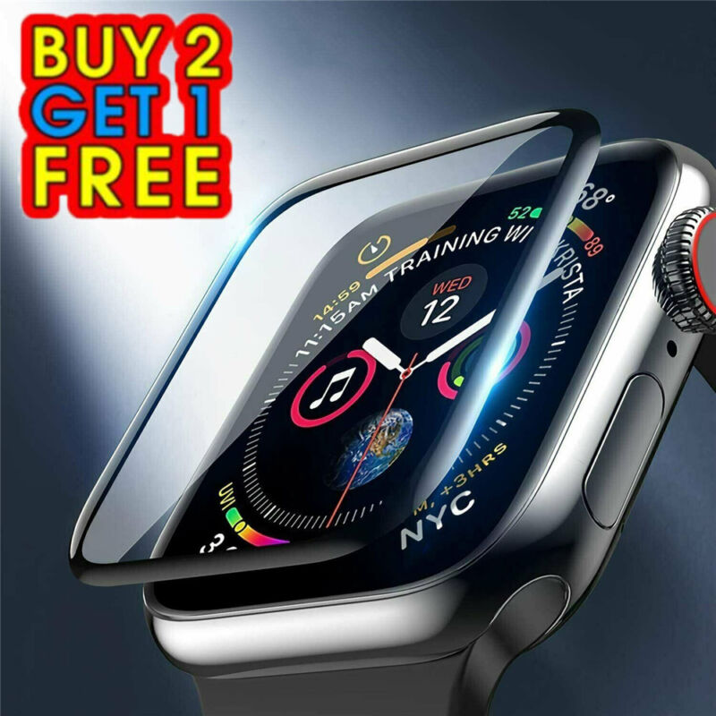 For Apple Watch Series 6 5 4 3 2 1 SE 38-44mm Bumper Shockproof Screen Protector