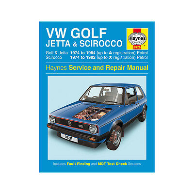 [0726] VW Golf Jetta Scirocco 1.5 1.6 1.8 Petrol 1974-84 (up to A Reg) Haynes Ma