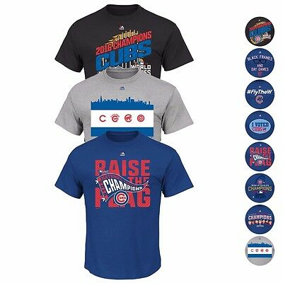 Chicago Cubs Mlb 2016 Ws Champions Locker Room T Shirt Collection Majestic Mens