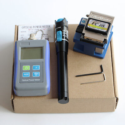 Optical Power Meter Fc-6s Fiber Cleaver 20mw Visual Fault Locator Ftth Tools Kit