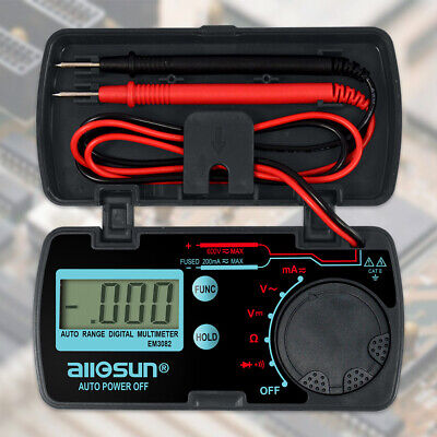 Pocket Size Digital Multimeter Auto Range Multi Tester Date Hold Em3082 Lcd Disp