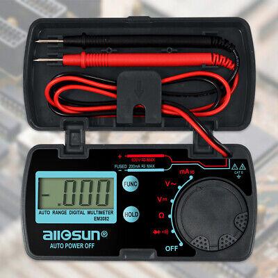 Pocket Size Digital Multimeter Auto Range Multi Tester Date Hold Em3082 Lcd Disp