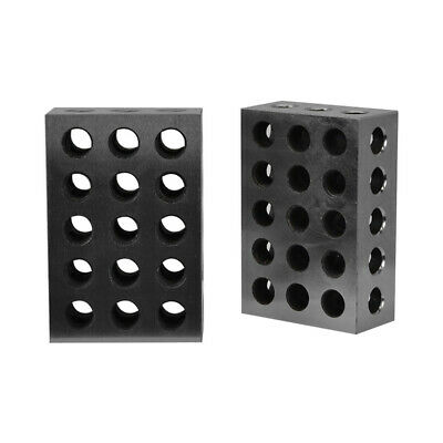 2 Pc 1-2-3 Blocks 25-50-75mm Precision Blocks 23 Holes Parallel Clamping Milling